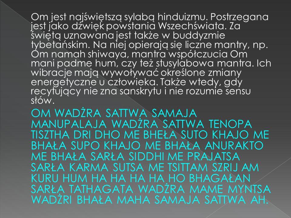 Om jest najświętszą sylabą hinduizmu