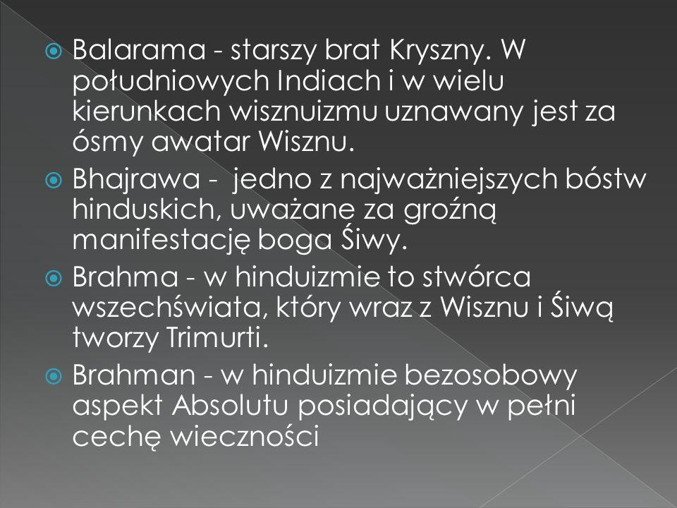 Balarama - starszy brat Kryszny