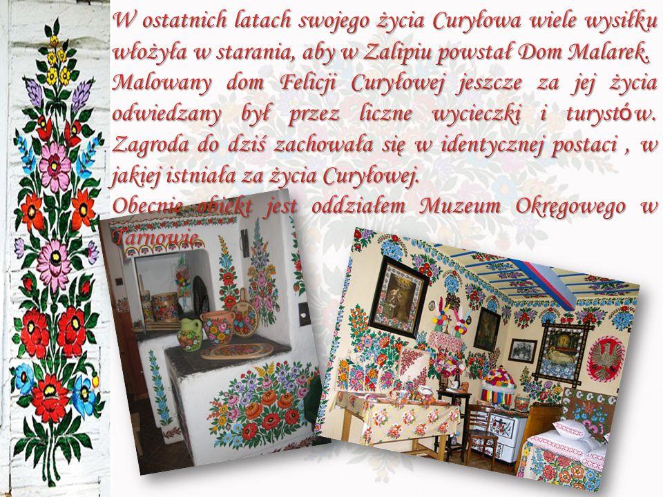 W ostatnich latach swojego życia Curyłowa wiele wysiłku włożyła w starania, aby w Zalipiu powstał Dom Malarek.