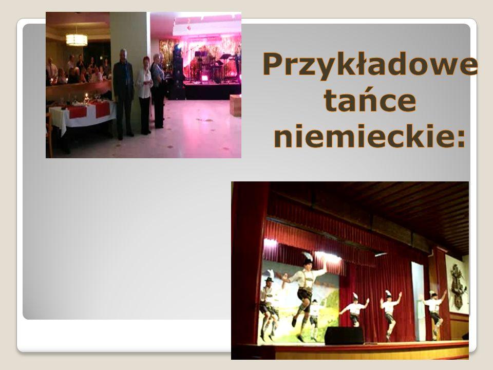 Przykładowe tańce niemieckie: