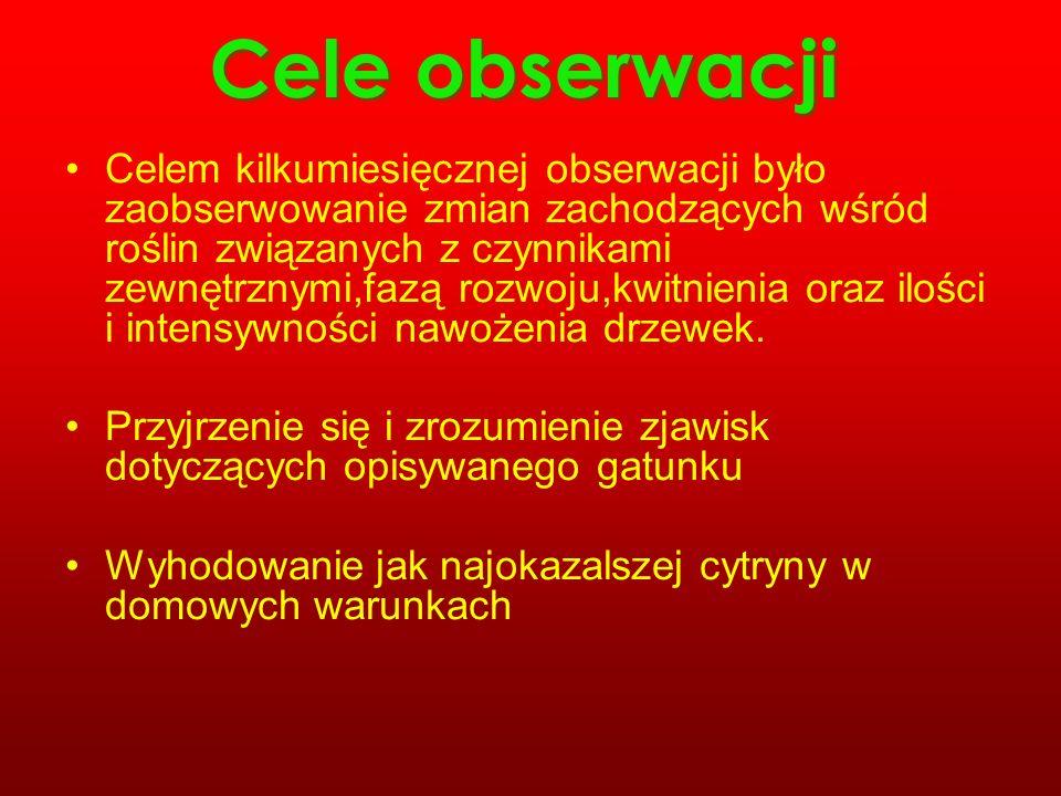 Cele obserwacji