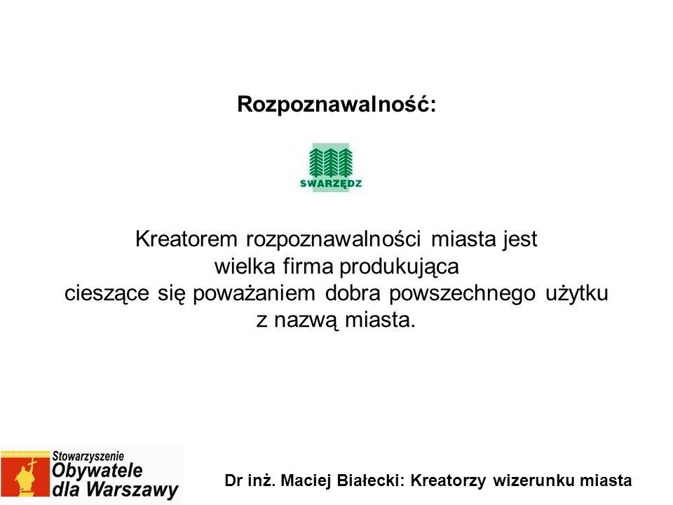 Dr inż. Maciej Białecki: Kreatorzy wizerunku miasta