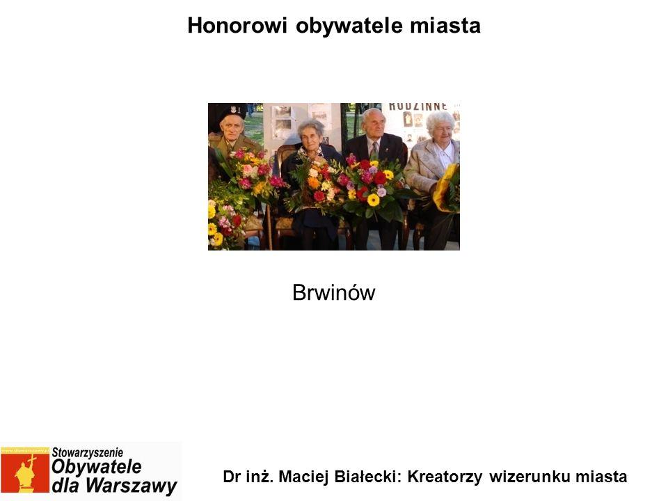 Honorowi obywatele miasta Brwinów