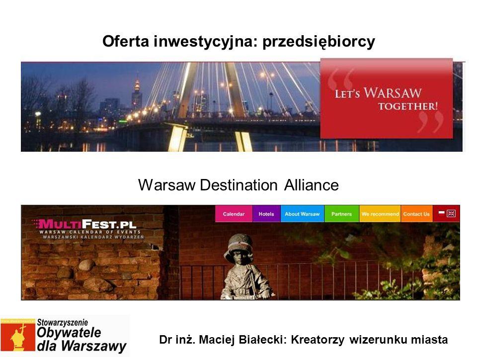 Oferta inwestycyjna: przedsiębiorcy Warsaw Destination Alliance