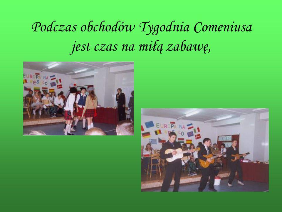 Podczas obchodów Tygodnia Comeniusa jest czas na miłą zabawę,