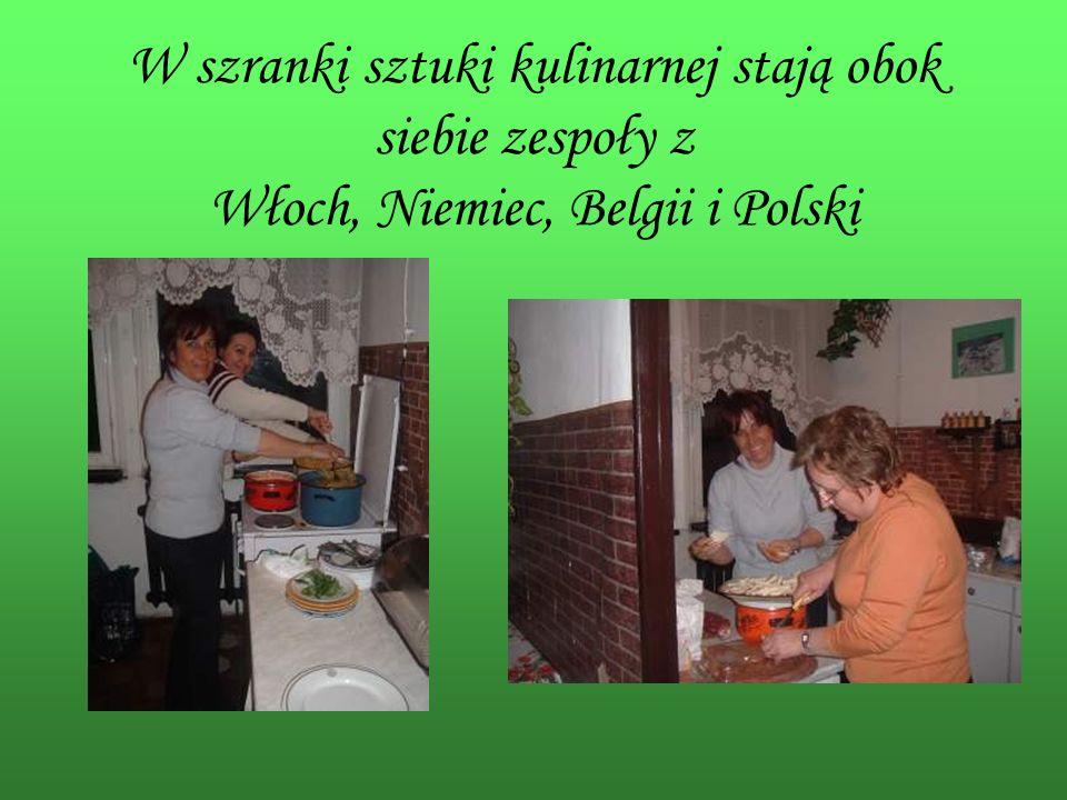 W szranki sztuki kulinarnej stają obok siebie zespoły z Włoch, Niemiec, Belgii i Polski