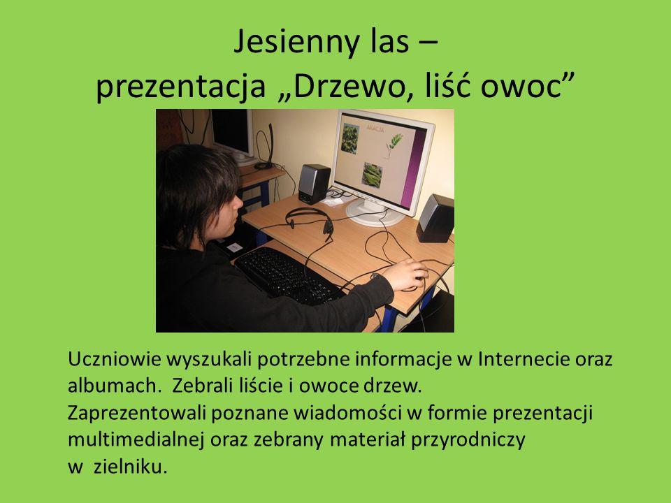 """Jesienny las – prezentacja """"Drzewo, liść owoc"""
