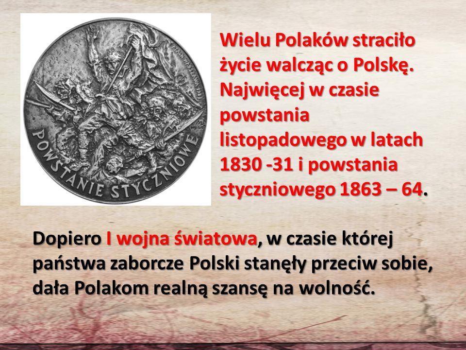 Wielu Polaków straciło życie walcząc o Polskę