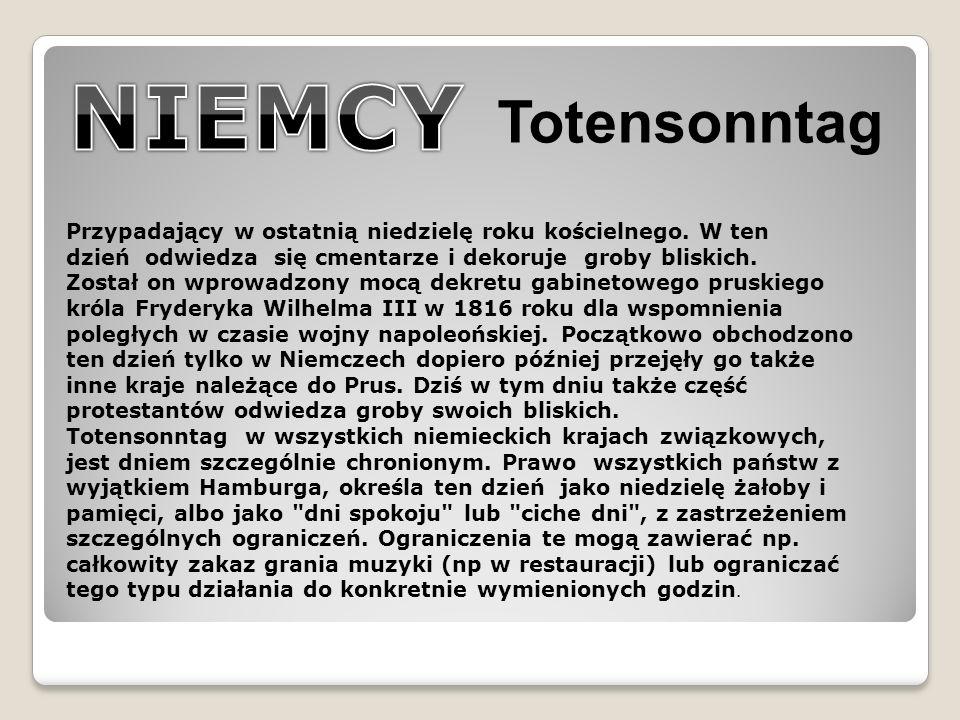 NIEMCY Totensonntag.