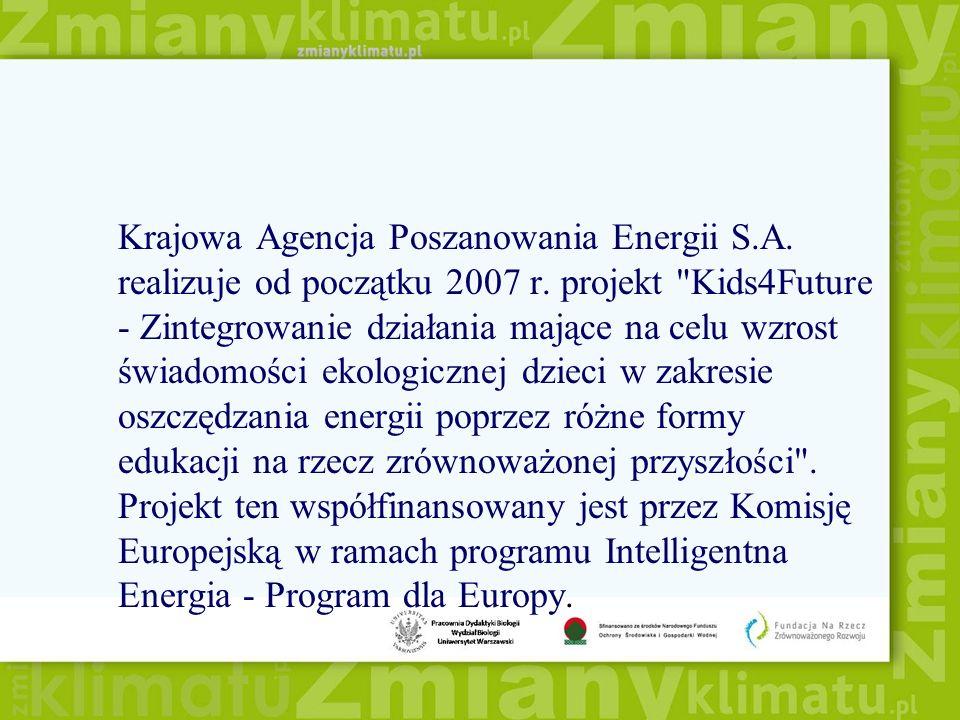Krajowa Agencja Poszanowania Energii S.A. realizuje od początku 2007 r.