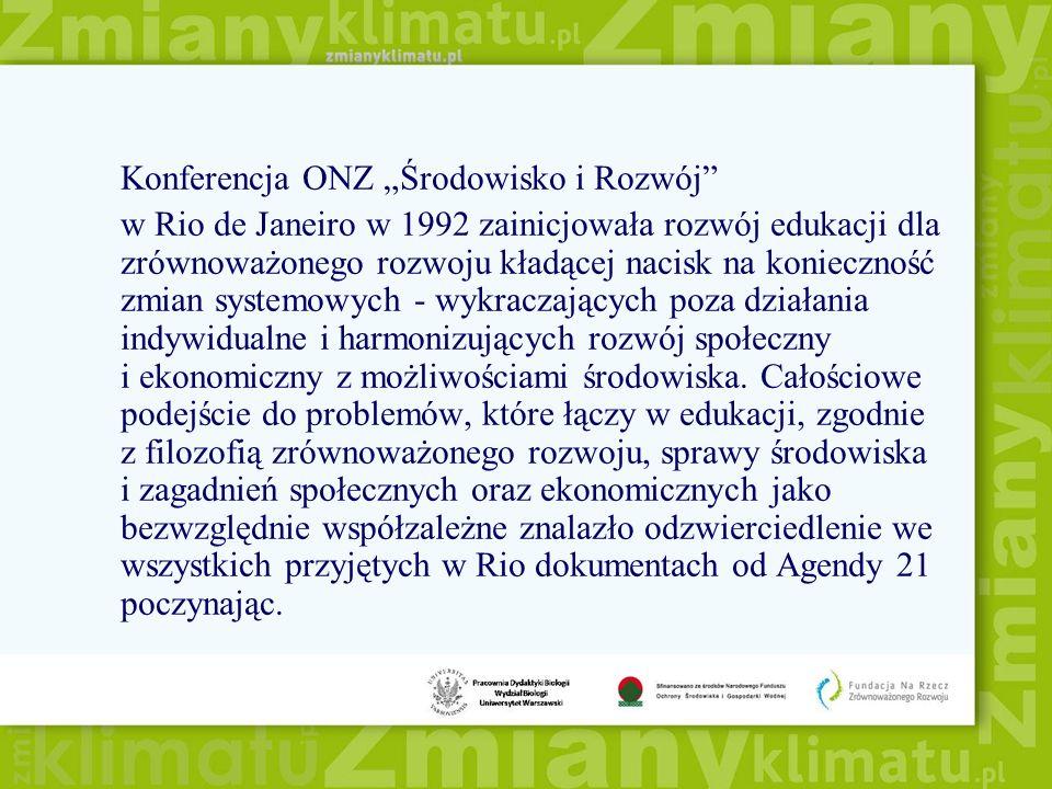 """Konferencja ONZ """"Środowisko i Rozwój"""