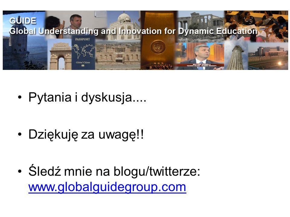 Pytania i dyskusja.... Dziękuję za uwagę!! Śledź mnie na blogu/twitterze: www.globalguidegroup.com
