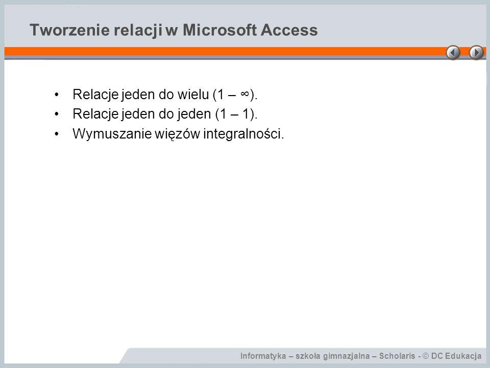 Tworzenie relacji w Microsoft Access