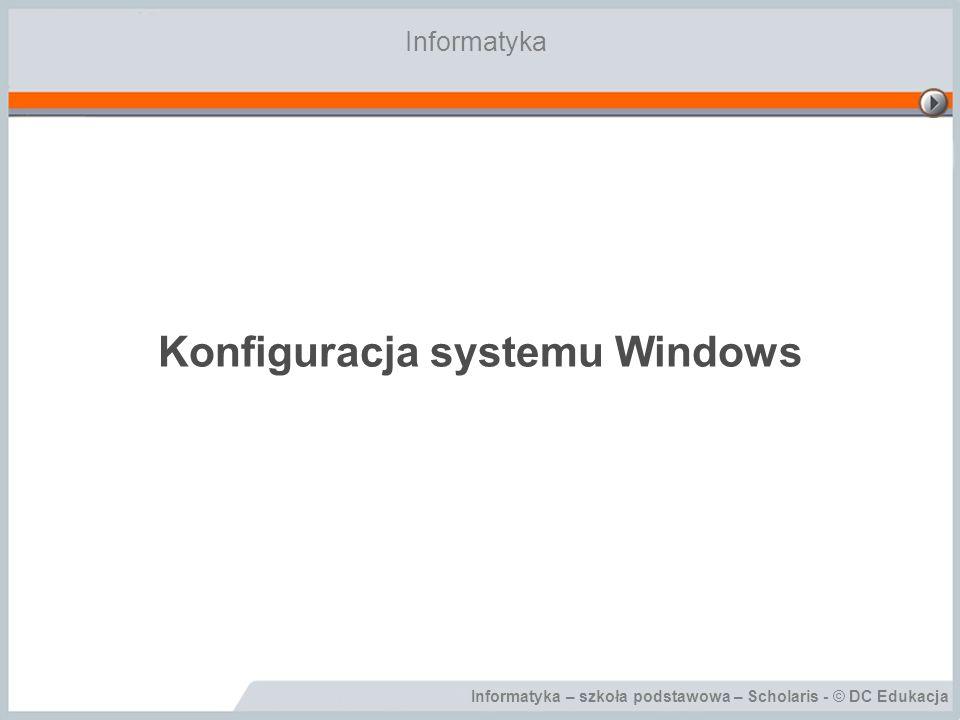Konfiguracja systemu Windows