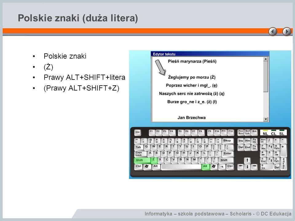 Polskie znaki (duża litera)