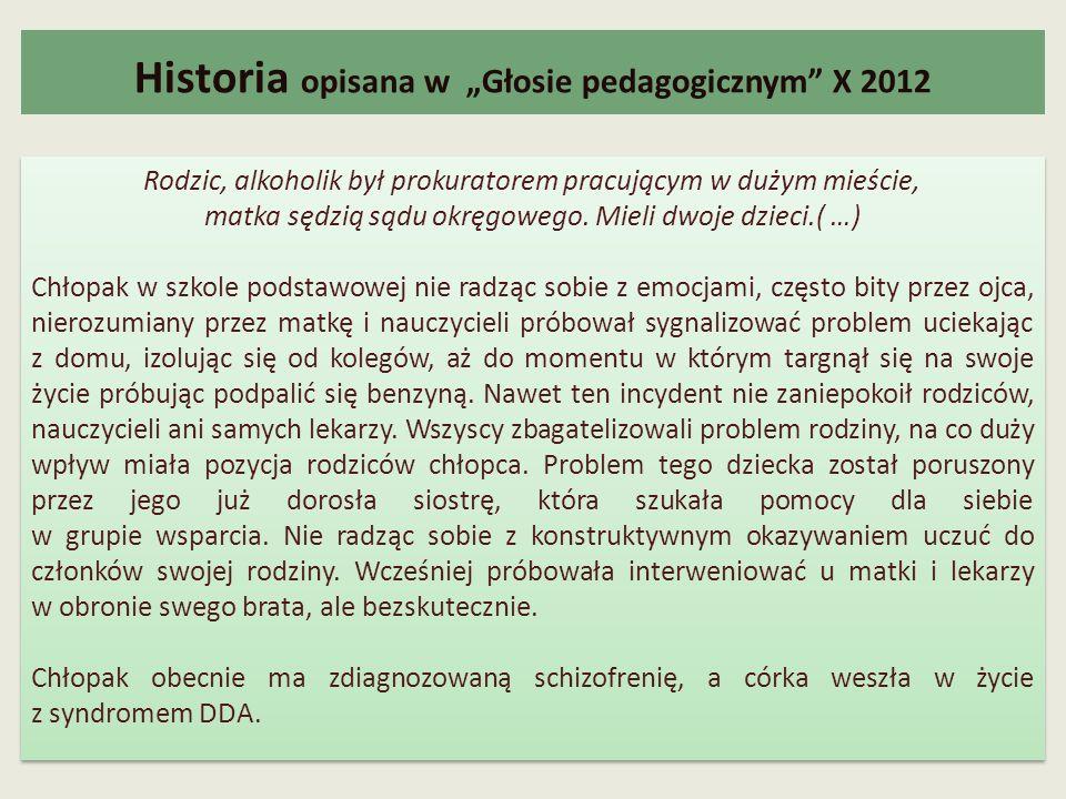 """Historia opisana w """"Głosie pedagogicznym X 2012"""