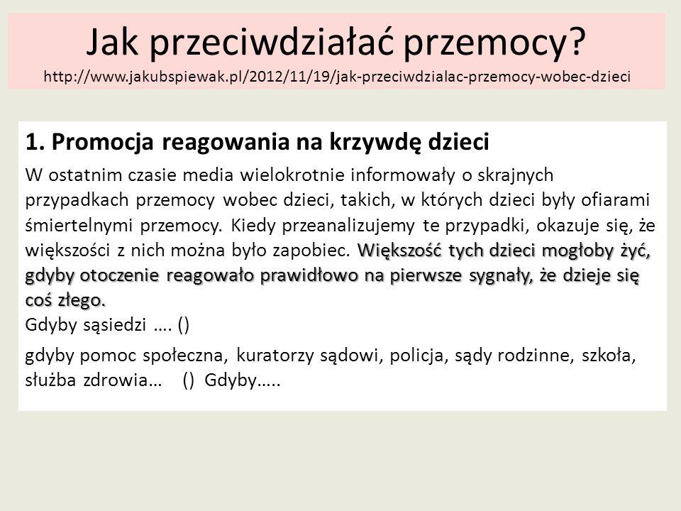 Jak przeciwdziałać przemocy. http://www. jakubspiewak
