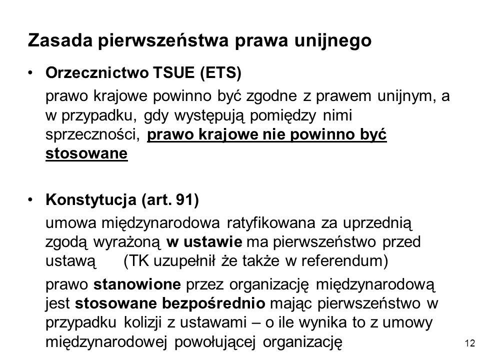 Zasada pierwszeństwa prawa unijnego
