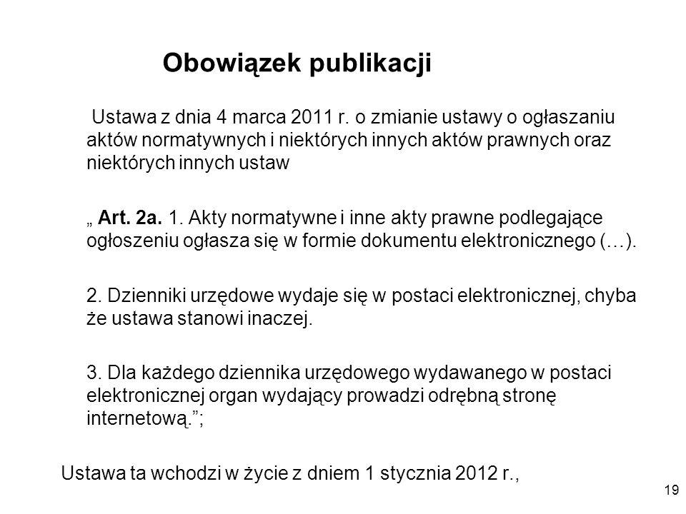 Obowiązek publikacji