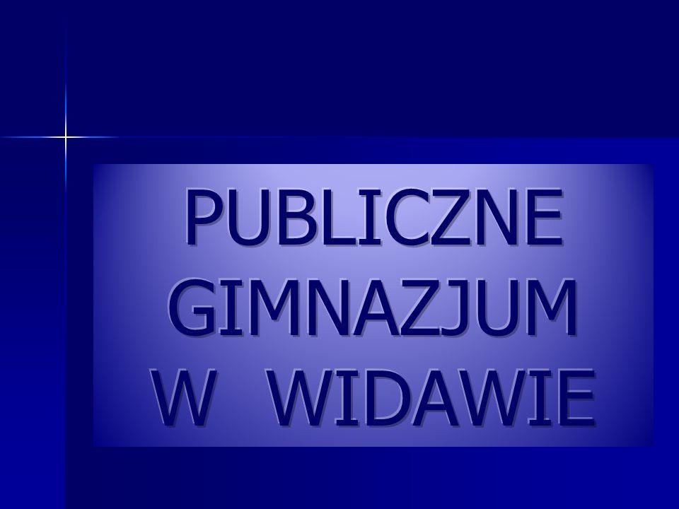 PUBLICZNE GIMNAZJUM W WIDAWIE