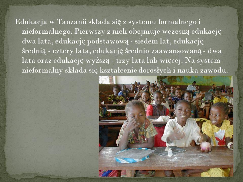 Edukacja w Tanzanii składa się z systemu formalnego i nieformalnego