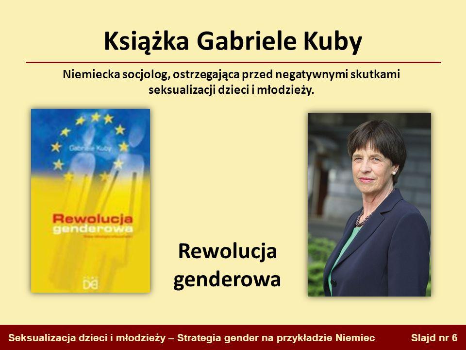 Książka Gabriele Kuby Rewolucja genderowa