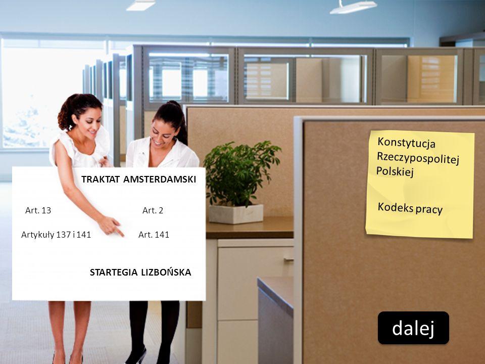dalej Konstytucja Rzeczypospolitej Polskiej Kodeks pracy