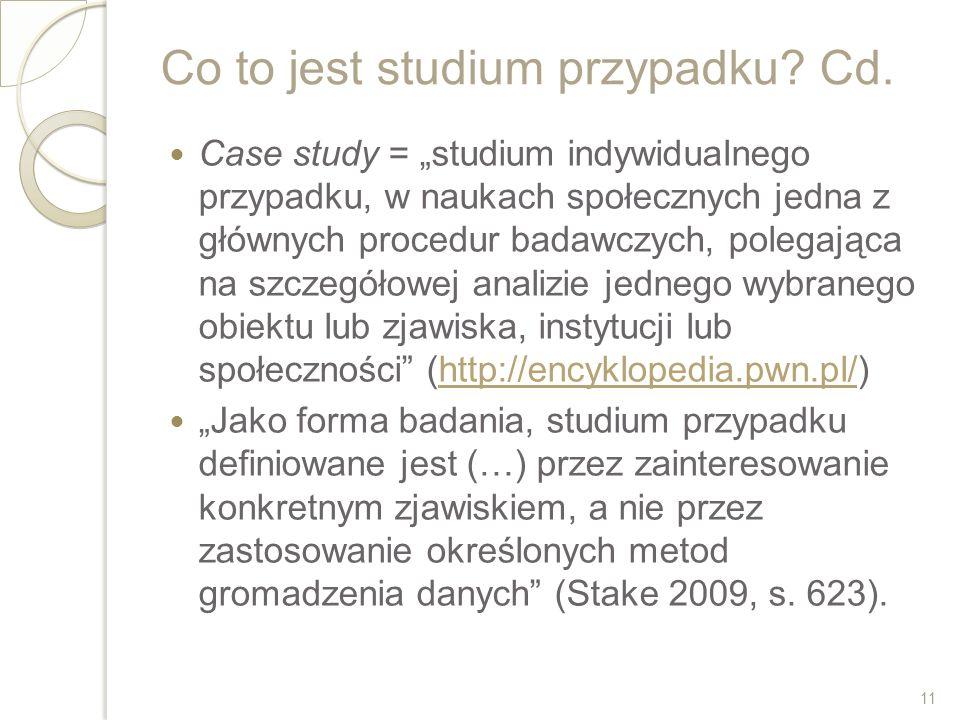 Co to jest studium przypadku Cd.
