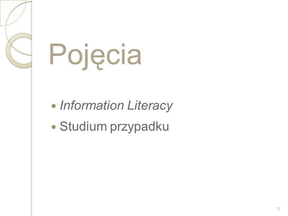 Pojęcia Information Literacy Studium przypadku