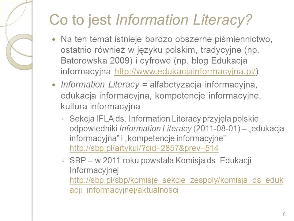 Co to jest Information Literacy