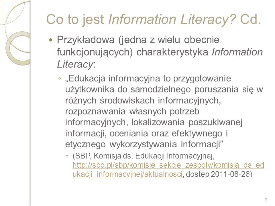 Co to jest Information Literacy Cd.