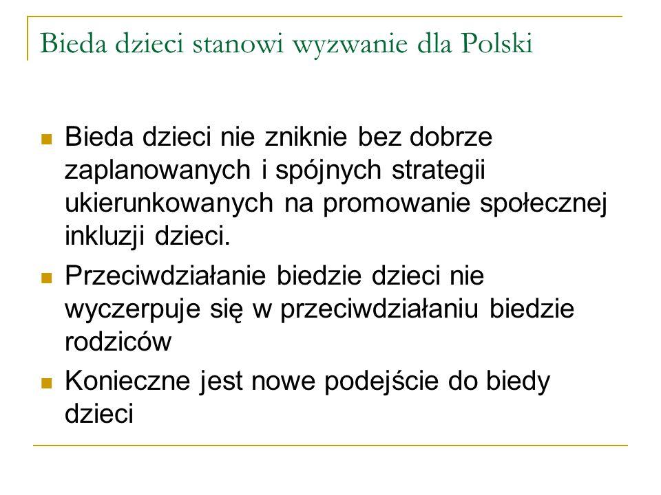 Bieda dzieci stanowi wyzwanie dla Polski