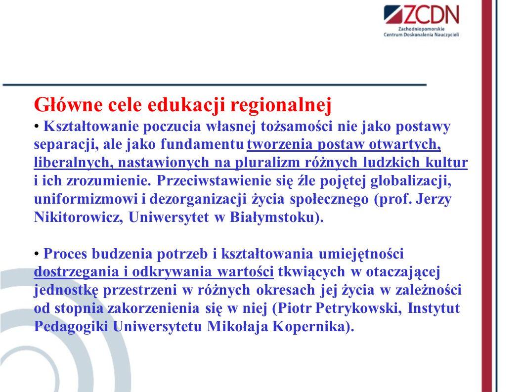 Główne cele edukacji regionalnej