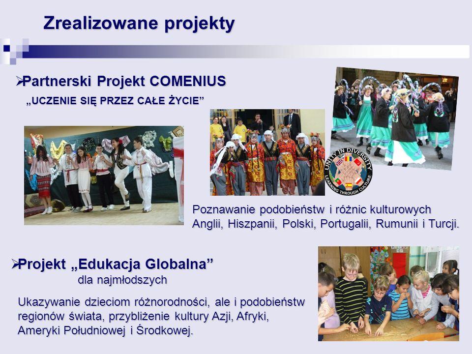 """Partnerski Projekt COMENIUS """"UCZENIE SIĘ PRZEZ CAŁE ŻYCIE"""