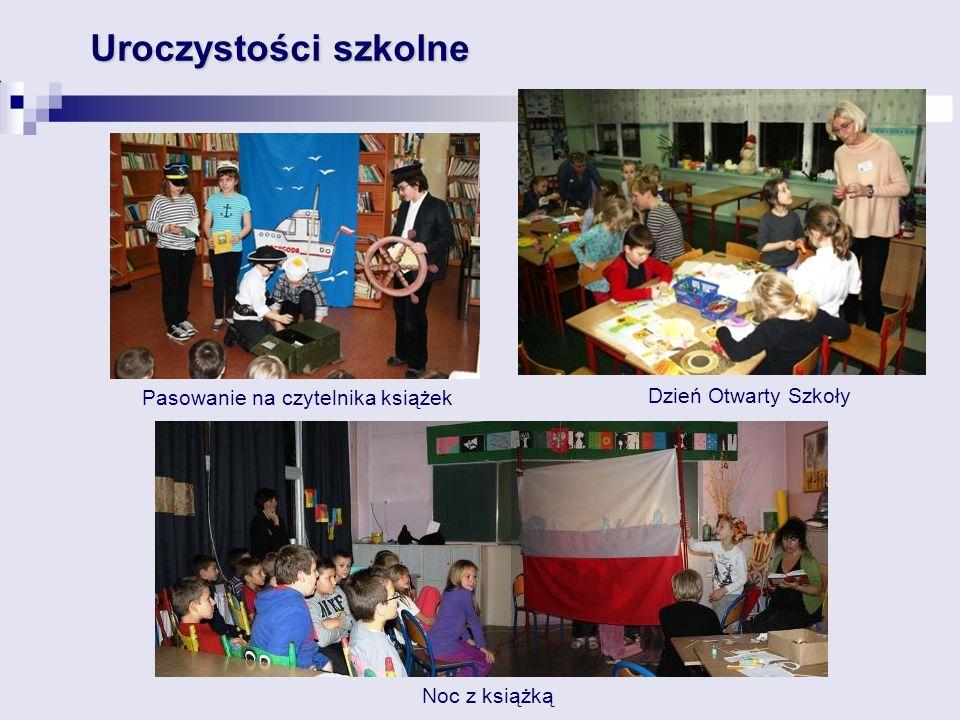 Uroczystości szkolne Pasowanie na czytelnika książek