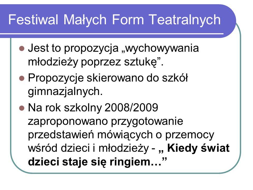 Festiwal Małych Form Teatralnych