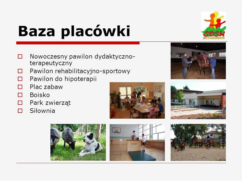 Baza placówki Nowoczesny pawilon dydaktyczno-terapeutyczny