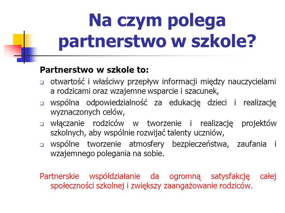 Na czym polega partnerstwo w szkole
