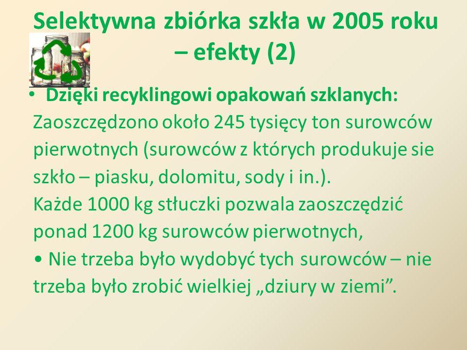 Selektywna zbiórka szkła w 2005 roku – efekty (2)