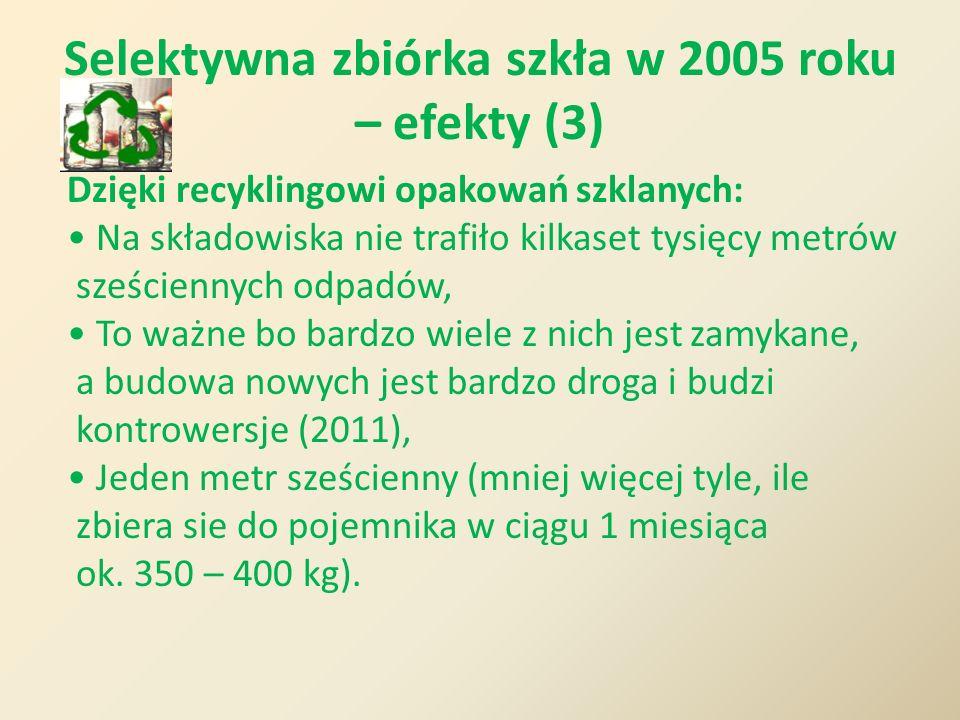 Selektywna zbiórka szkła w 2005 roku – efekty (3)