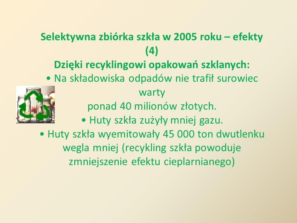 Selektywna zbiórka szkła w 2005 roku – efekty (4)