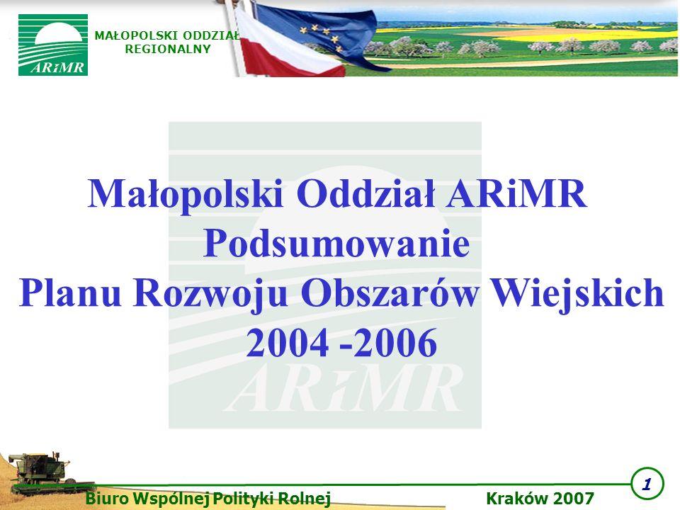 Małopolski Oddział ARiMR Planu Rozwoju Obszarów Wiejskich