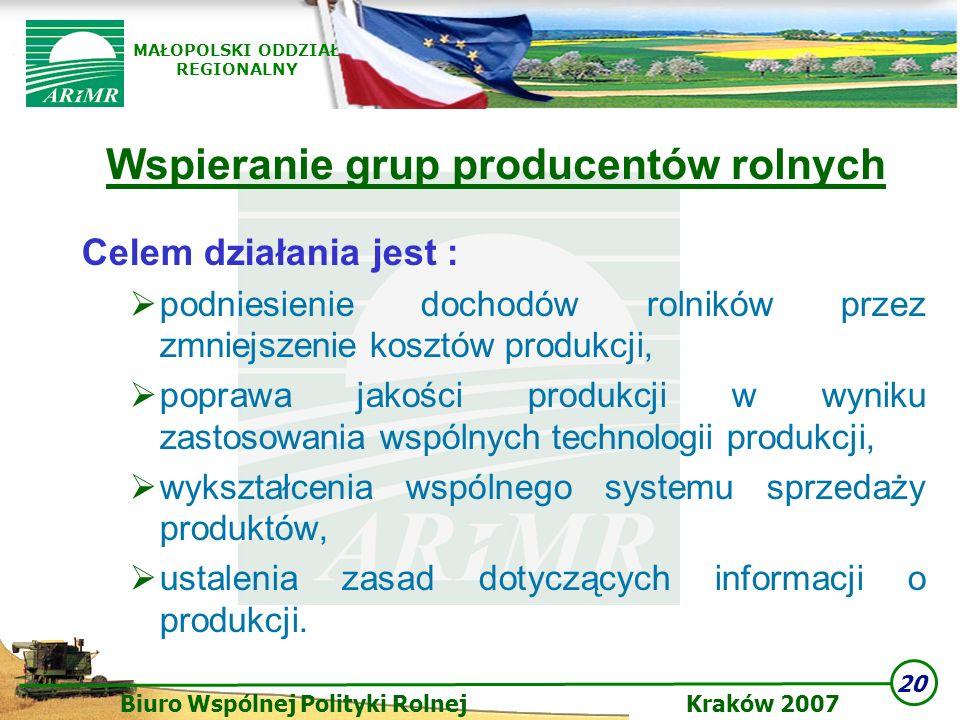 Wspieranie grup producentów rolnych