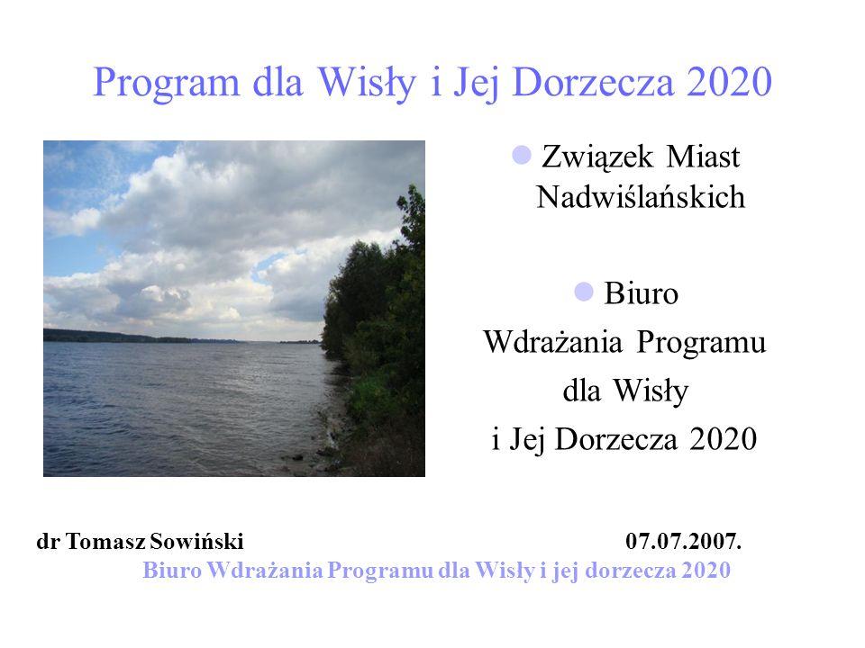 Program dla Wisły i Jej Dorzecza 2020
