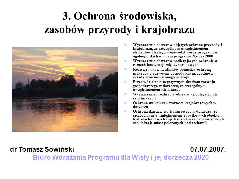 3. Ochrona środowiska, zasobów przyrody i krajobrazu