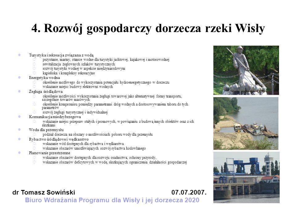 4. Rozwój gospodarczy dorzecza rzeki Wisły