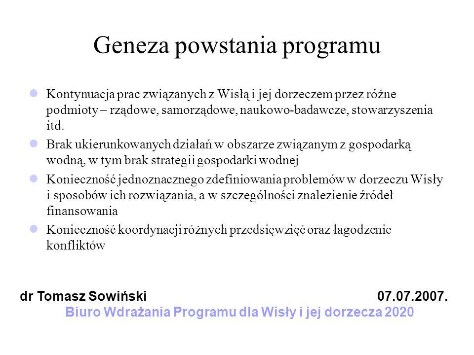 Geneza powstania programu