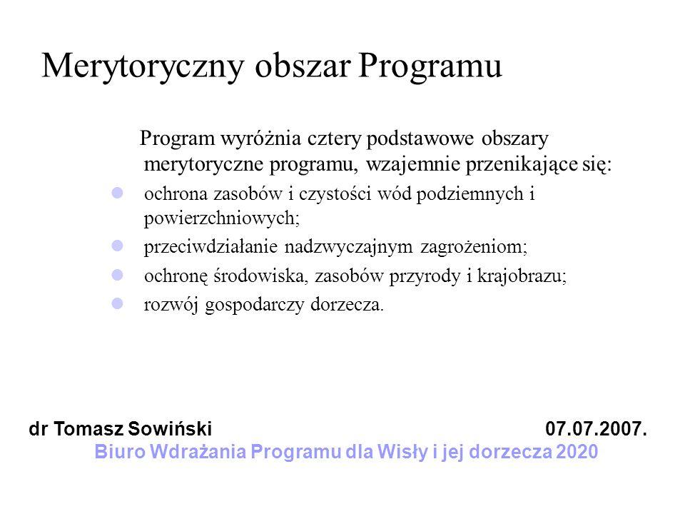 Merytoryczny obszar Programu