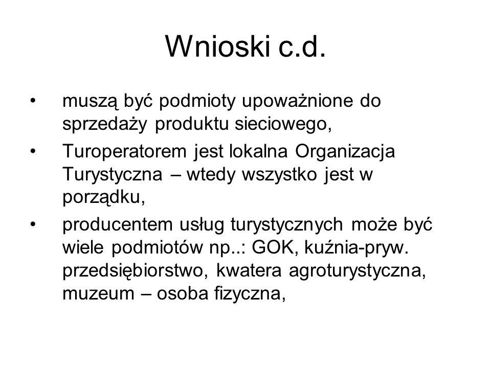 Wnioski c.d. muszą być podmioty upoważnione do sprzedaży produktu sieciowego,