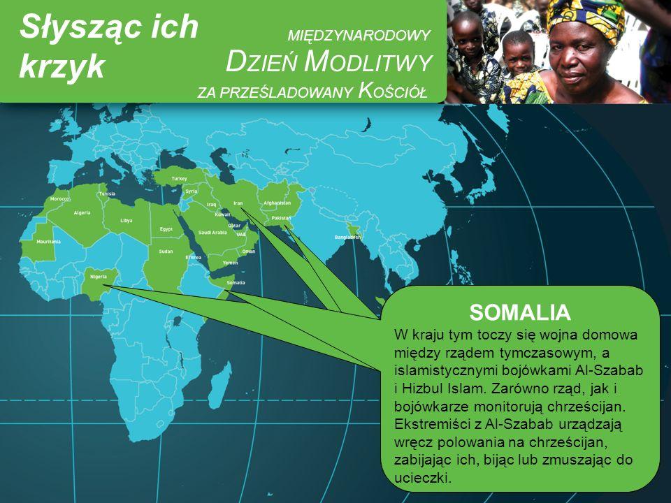 Słysząc ich krzyk DZIEŃ MODLITWY MIĘDZYNARODOWY SOMALIA PAKISTAN IRAN